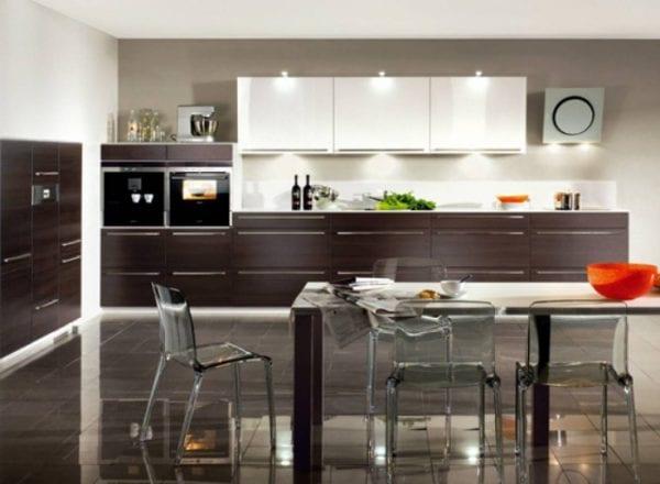 Двухцветные кухни в стиле модерн