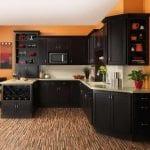 Best-Kitchen-Flooring-With-Orange-Wall