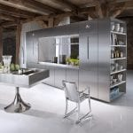 Cool-Kitchen-with-Stainless-Steel-Cabinets