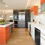 Kitchen-cabinet-color-scheme-that-brings-together-orange-white-and-black