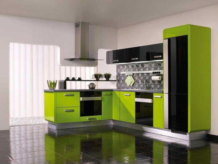 Кухни дизайн цвет зеленый