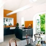 black and orange kitchen gold drawer knobs pulls subway tiles dining room table french doors cococozy ingerstedt dot se
