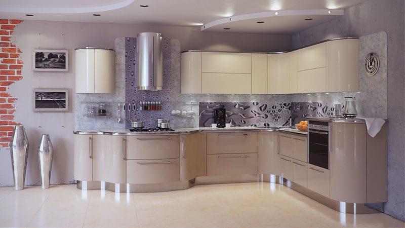 Двухцветные кухни фото сочетание цветов