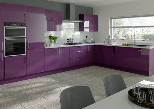 Дизайн кухни цвета фото