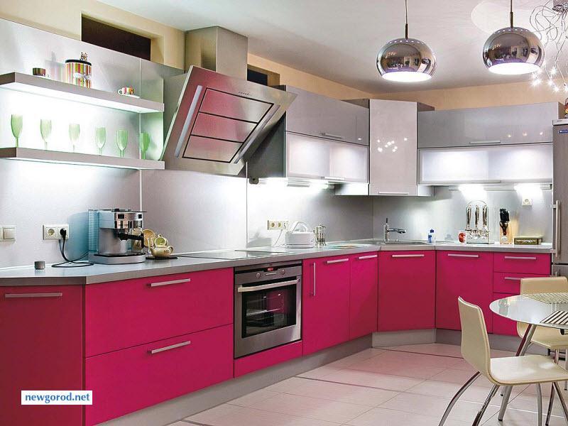 Кухни с цветом фуксия дизайн