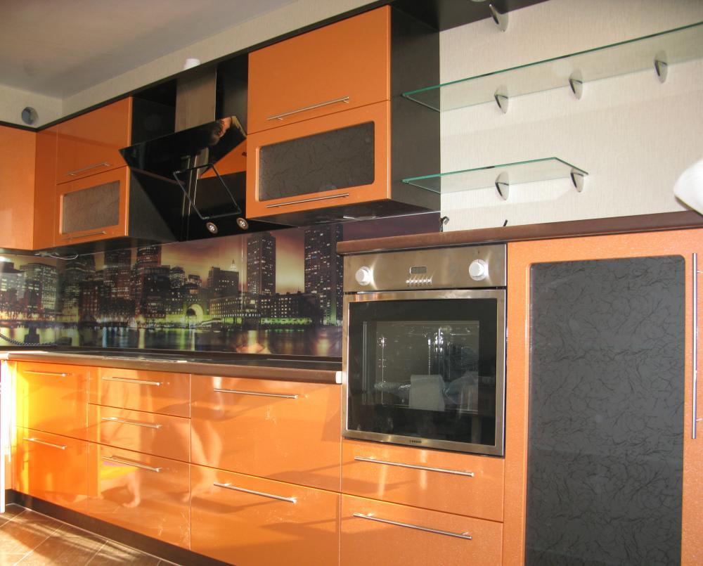 Кухни оранжевые дизайн фото