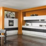 kitchen-sets-with-glorious-black-and-orange-kitchen-cabinets-with-modern-breakfast