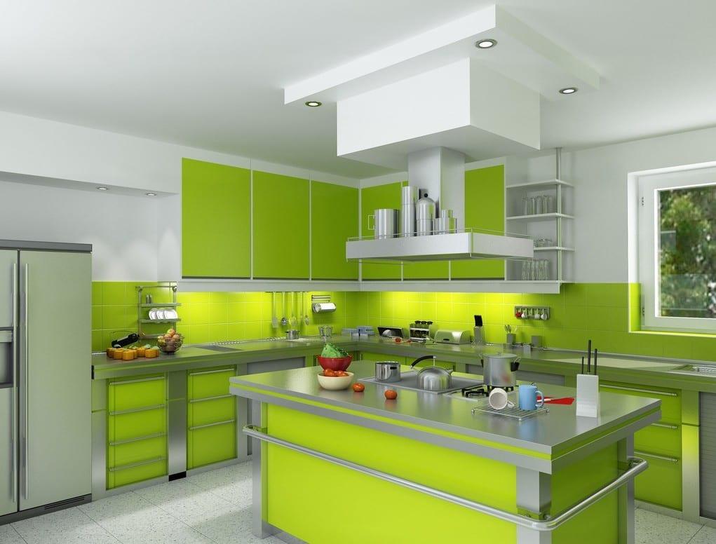 Кухни дизайн цвет лайм