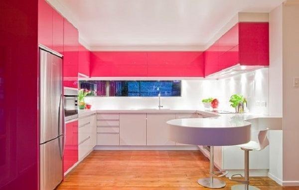 Двухцветные кухни хай-тек