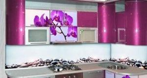 Кухни с рисунком или фотопечатью на фасаде