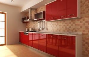 Кухни вишневого цвета
