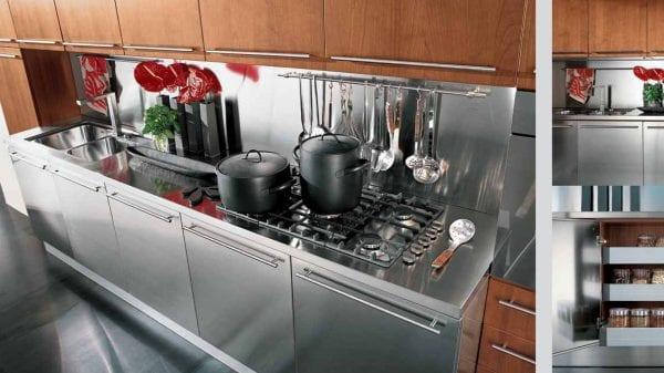 Кухня и ее элементы из нержавеющей стали