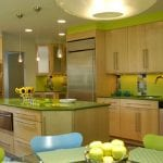 unique-tiny-pendant-lighting-also-snazzy-lime-green-home-kitchen-accent-plus-double-wall-accent-and-island-table-with-drawer-dishwasher