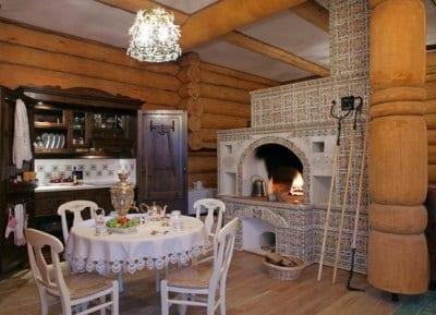 В деревянном доме отделка стен необязательна