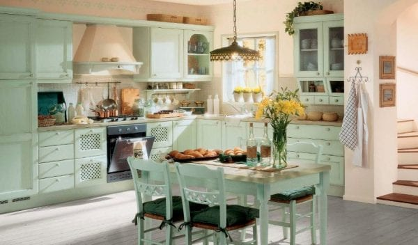 Пространство кухни в стиле прованс
