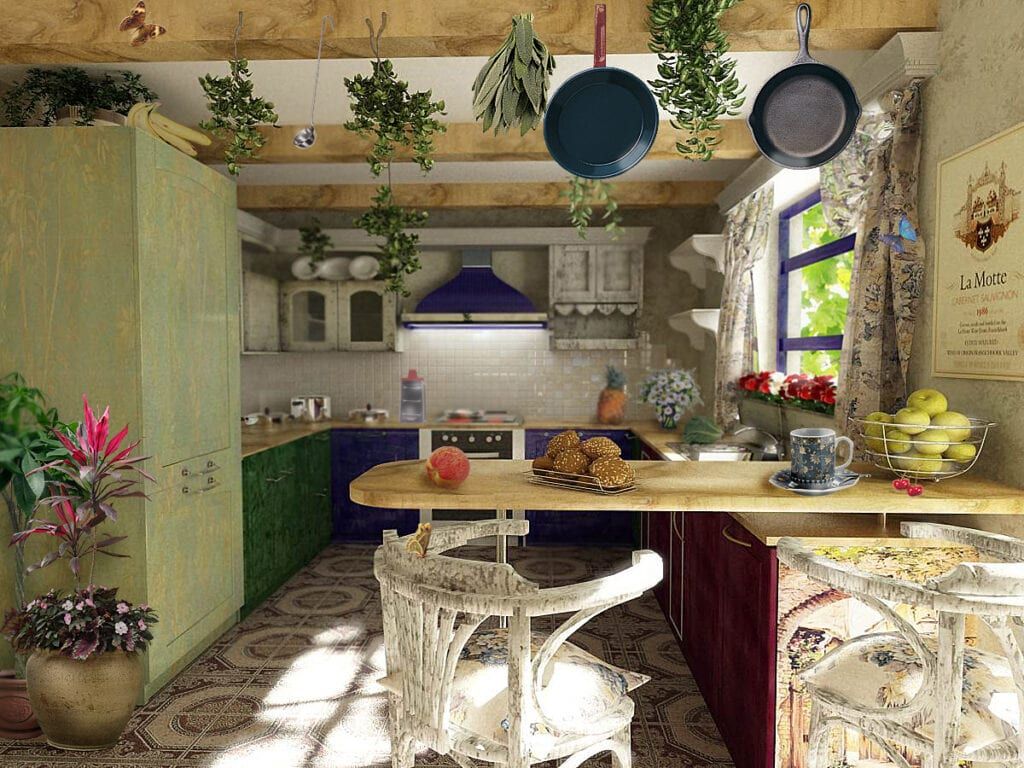 Кухня в стиле прованс фото своими руками