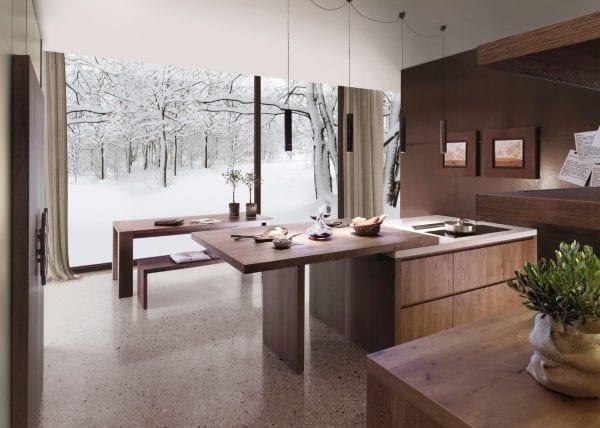 Окно на кухне в эко-стиле