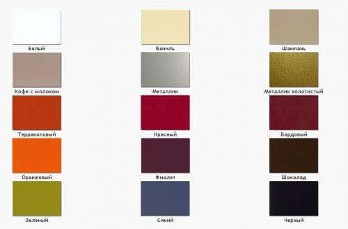 Цветовая гамма фасадов из акрила - довольно обширная