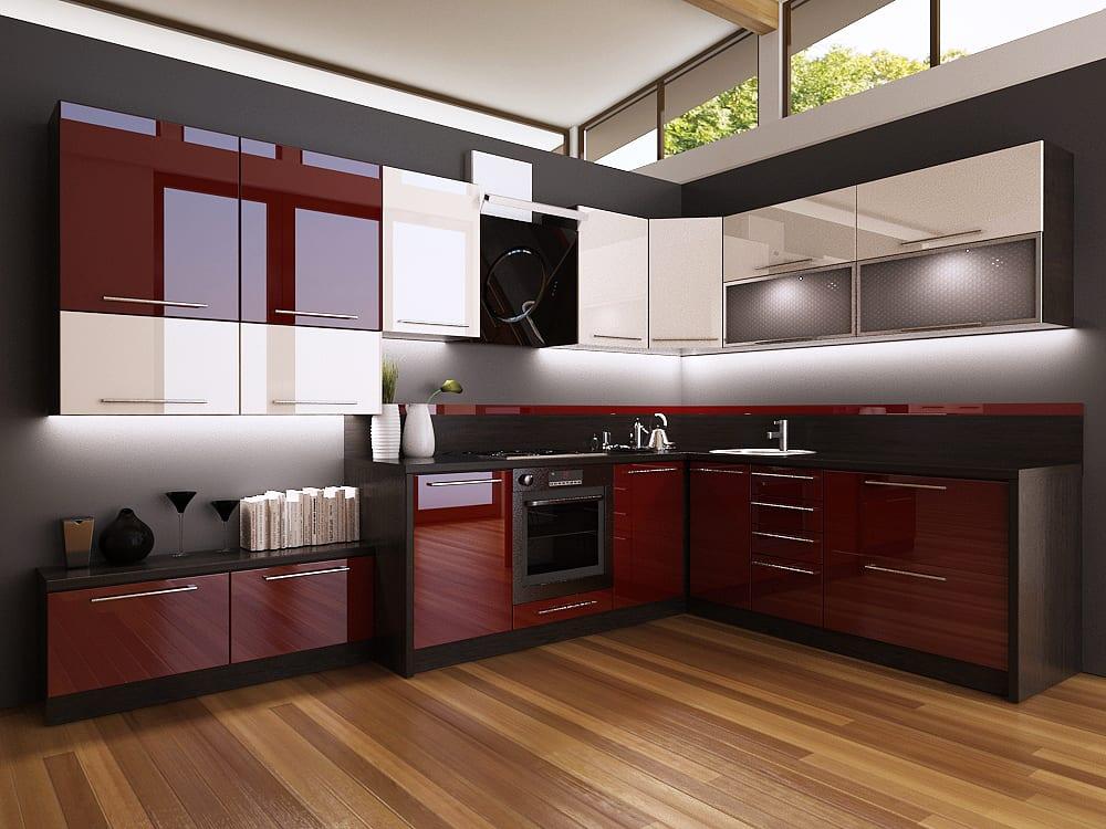 Шторы для бордовой кухни