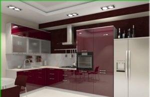 Крашеные фасады для кухни из МДФ