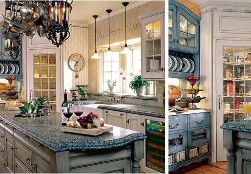 Посуда на кухне в стиле прованс
