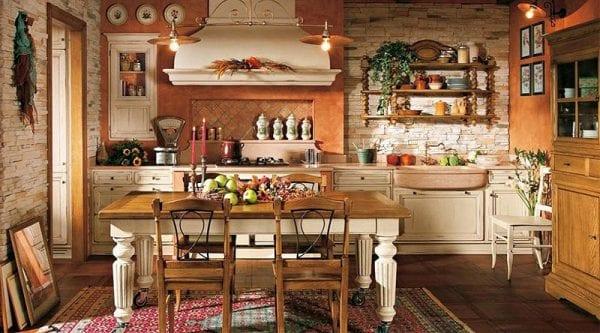Кухонная мебель в деревенском стиле