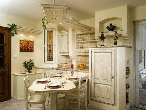 Маленькие кухни в стиле прованс0