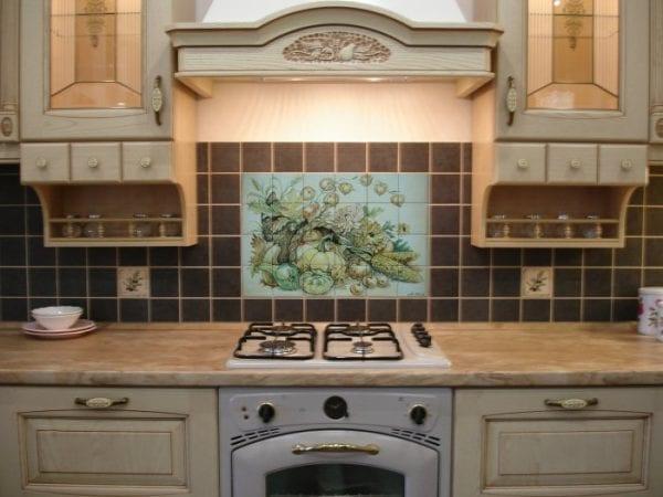 Панно для кухни на фартук в стиле прованс