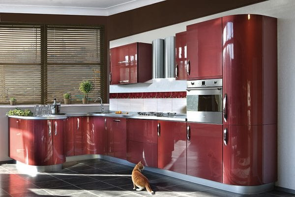 Кухня цвета металлик