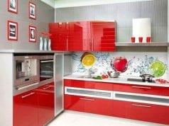 Стеклянные фасады для кухни – очарование стекла