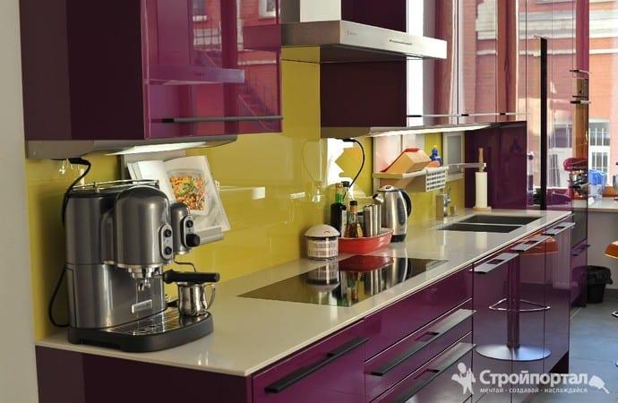 Дизайн кухни панелями