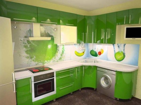 Дизайн кухни с фото панелями