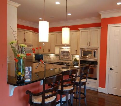 Секрет использования кораллового цвета на кухне