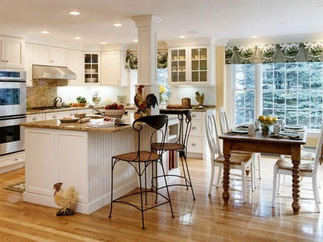Белые кухни в стиле прованс дизайн
