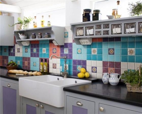 Фартук для кухни из плитки