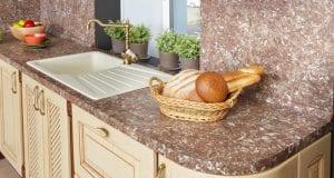 Фартук для кухни из искусственного камня