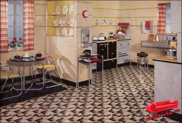 Кухня в стиле 30-х годов