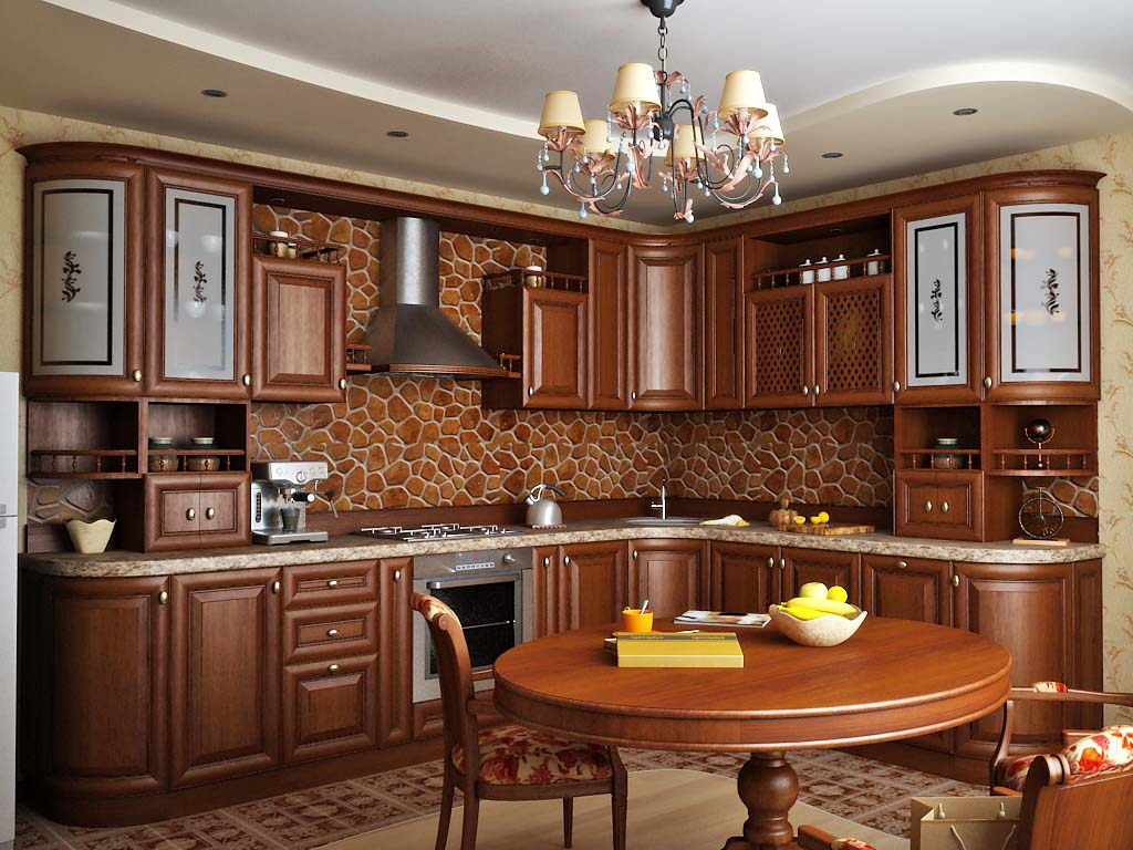 Стиль классический в интерьере кухни фото