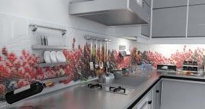 Фартук для кухни из мозаики – изюминка кухонного дизайна