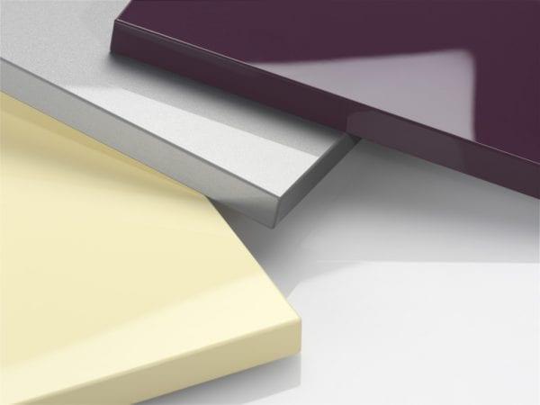 Постформинг на створке цвета баклажан