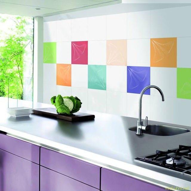 Дизайн фартука на кухню из плитки фото 142