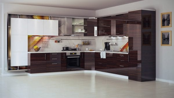 Акриловая пленка на фасадах кухни