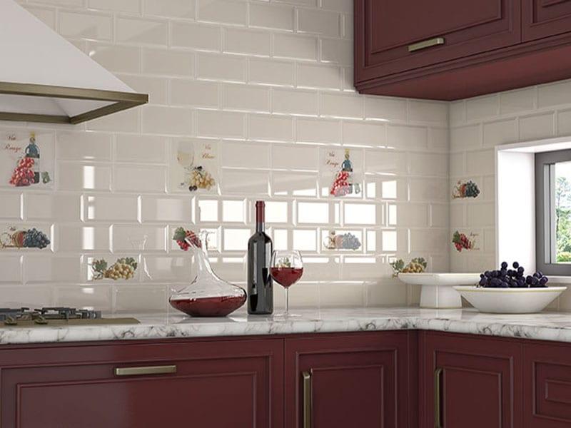 Керамический фартук для кухни фото