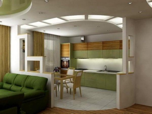 Частичный снос стены как вариант объединения двух комнат.