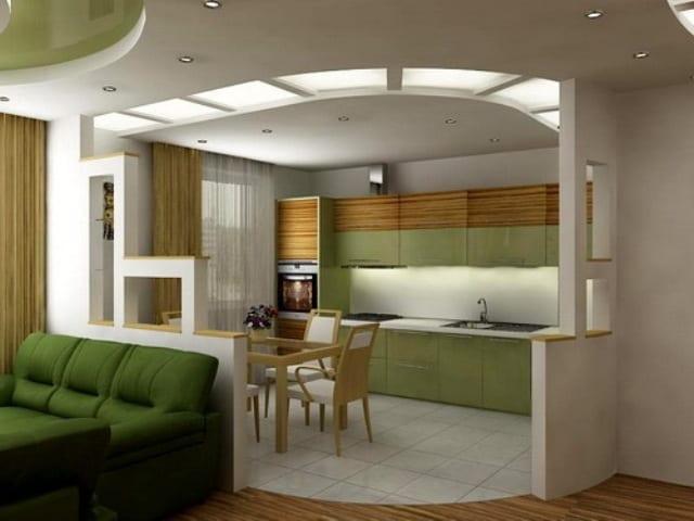 Гостиная и кухня дизайн