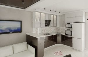 Кухня и гостиная: 5 шагов по обустройству единого пространства площадью 19 кв. м.