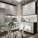 Кухня и гостиная 19 кв. м