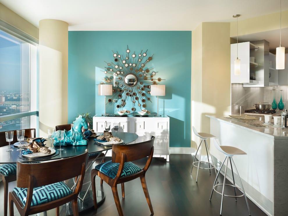 Кухня в бирюзовом цвете дизайн