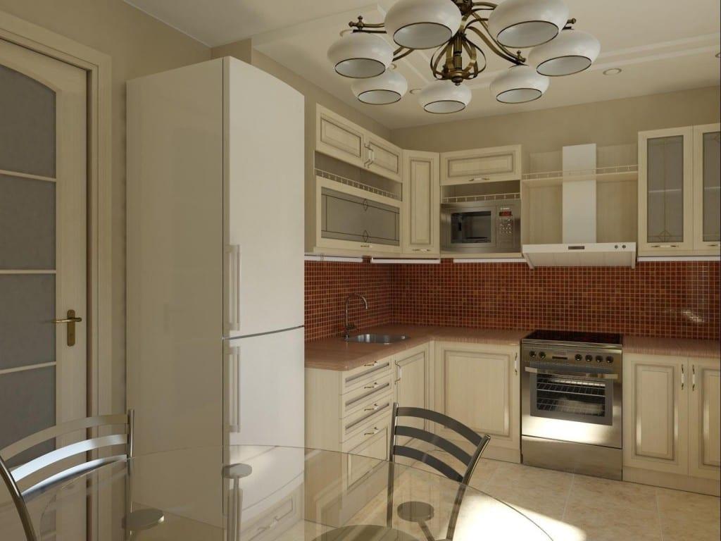 Интерьер на кухне 11 метров