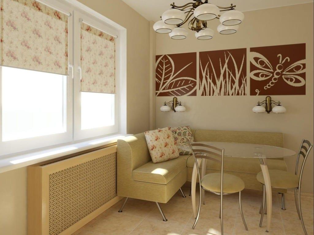 Интерьер кухни 10 кв.м фото с диваном